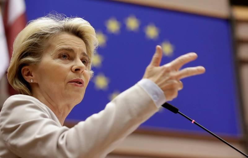歐盟執委會主席馮德萊恩25日表示,歐盟已為英國無協議脫歐做好準備。(法新社)