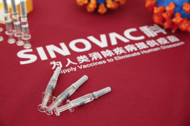 中國科興公司研製的武漢肺炎(新型冠狀病毒病,COVID-19)滅活疫苗。(歐新社資料照)