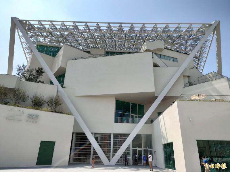 台南美術館2館是今年「台南城市音樂節暨貴人散步音樂節」合作場地之一。(記者洪瑞琴攝)