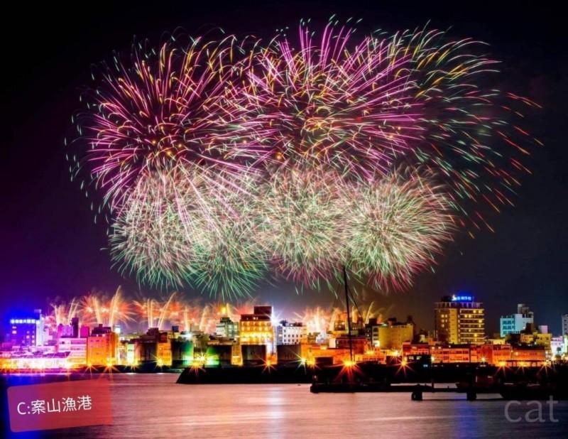 明年澎湖國際海上花火節,將在4月22日正式登場。(澎湖縣政府提供)
