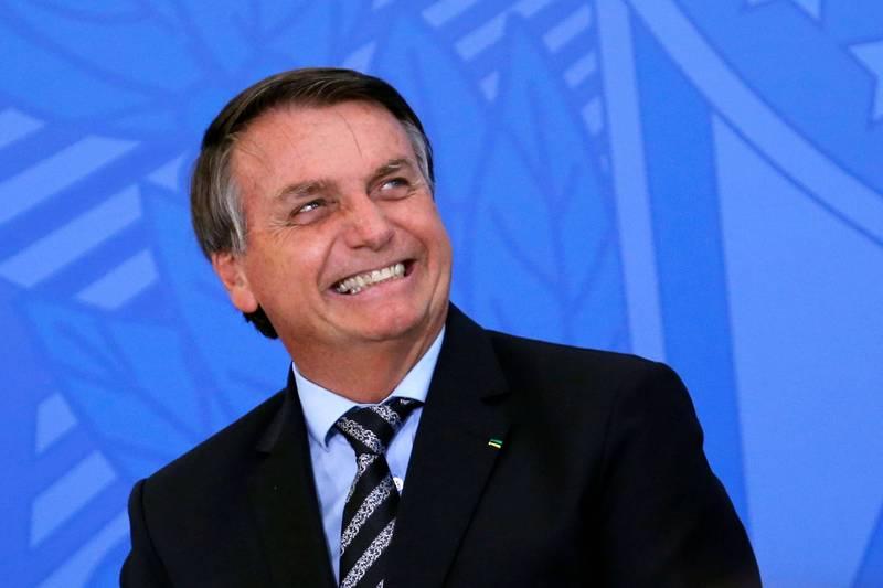 巴西總統波索納洛指自己不會接種武肺疫苗。(路透)