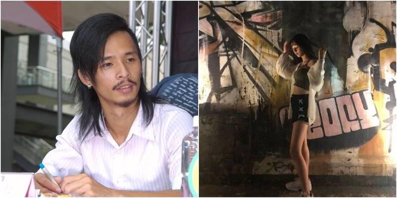 藍波老師(左)18歲愛女潔潔(右)曝光,引發網友關注。(左圖資料照,右圖取自潔潔IG)
