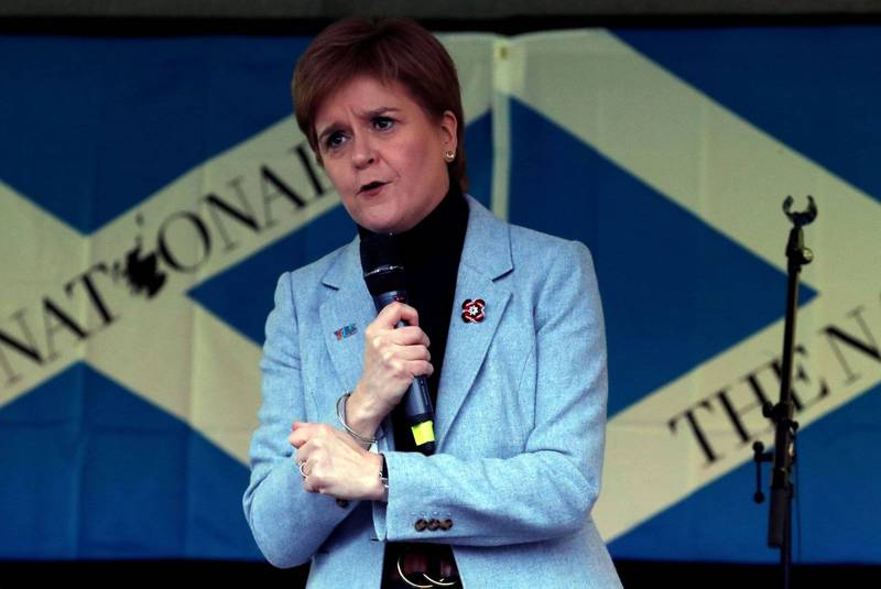 蘇格蘭首席大臣施特金(Nicola Sturgeon)表示,希望蘇格蘭明年就舉行第二次獨立公投。(路透資料照)