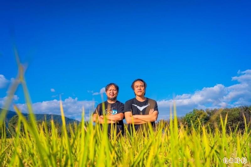 堅守「台灣人信用」,池上青農魏瑞廷(右)三度贈米梵蒂岡。(記者陳賢義攝)