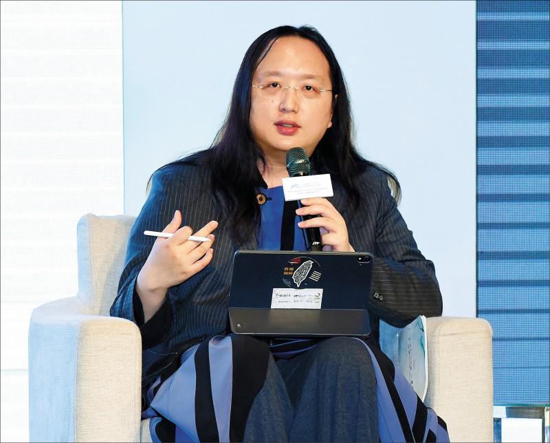 數位發展部首任部長人選,目前以被日本媒體盛讚為「天才IT大臣」的行政院政務委員唐鳳呼聲較高。(資料照)
