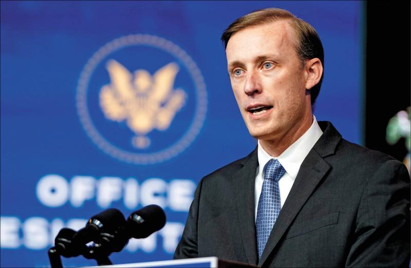 拜登提名的白宮國家安全顧問蘇利文受訪指出,上任後第一件事是遏阻武漢肺炎疫情,並處理中國造成的全球公共衛生威脅。(路透)