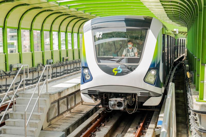 台中捷運綠線18列車今檢測完畢,預計明公佈檢測結果。(圖:市府提供)