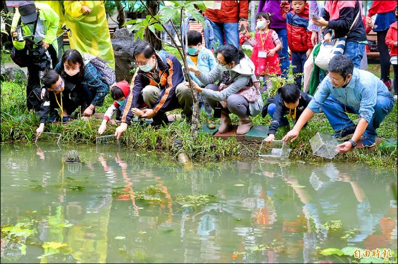 台北市政府28日舉行興隆公園更新及生態復育成果活動。 (記者方賓照攝)