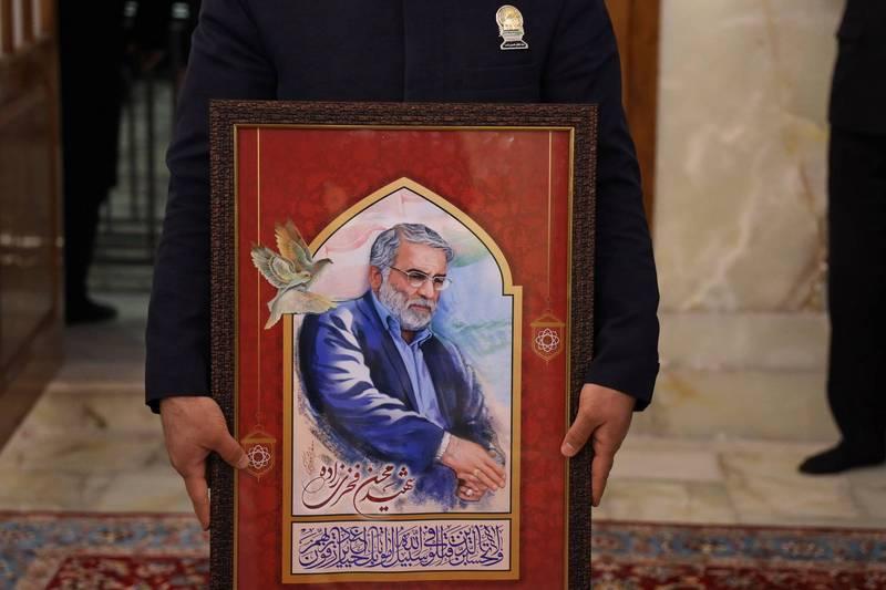 「伊朗核武之父」法克里薩德於週五遭人暗殺身亡。(法新社)