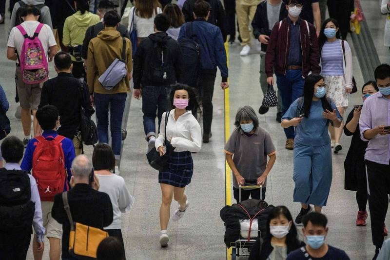香港今日新增115例武漢肺炎確診病例。(法新社檔案照)