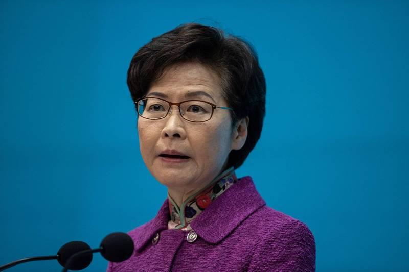 香港特首林鄭月娥自曝現金成堆在家。(歐新社)