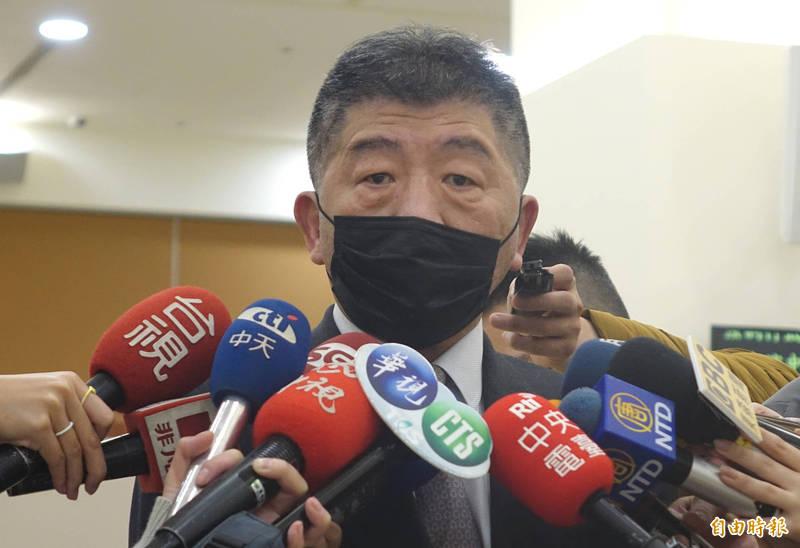 圖為中央流行疫情指揮中心指揮官陳時中。(記者王藝菘攝)