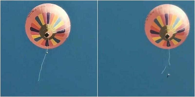 中國雲南1名景區工作人員從熱氣球墜地死亡。(圖取自微信)