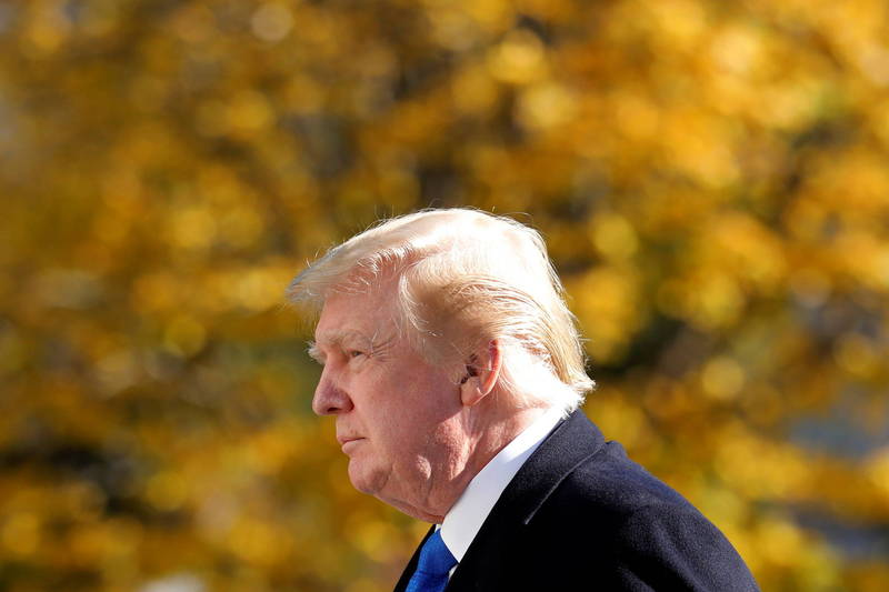 川普推文指出,共和黨在這次州議會選舉成績亮眼,「自己不可能是共和黨唯一選輸的人」。(路透)