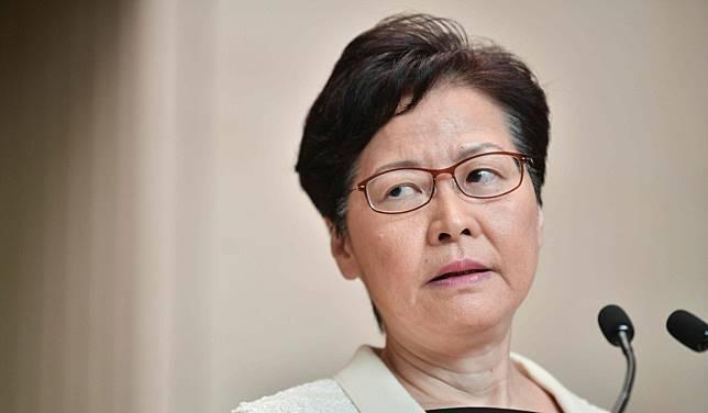 香港特首林鄭月娥日前接受《南華早報》專訪時,自認對「反送中運動」沒有感到內疚,還大言不慚地反問,「我做錯什麼」?(法新社)