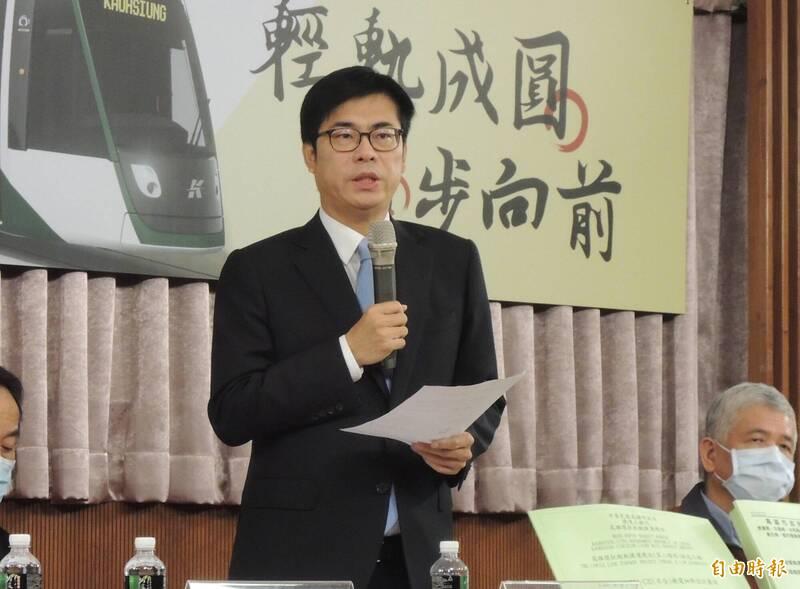 高雄市長陳其邁(見圖)今上任滿100天。(記者王榮祥攝)