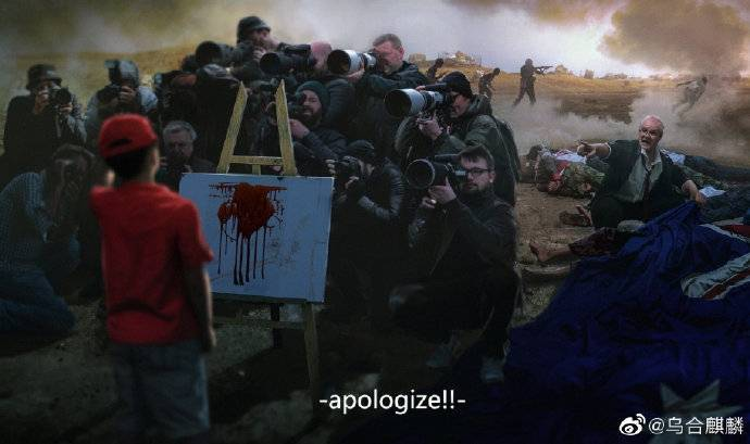 自稱「戰狼畫手」的中國青年畫家烏合麒麟,1日晚間在「微博」發表最新畫作,直接點名要求中方道歉刪文的澳洲總理莫里森。(取自烏合麒麟微博)