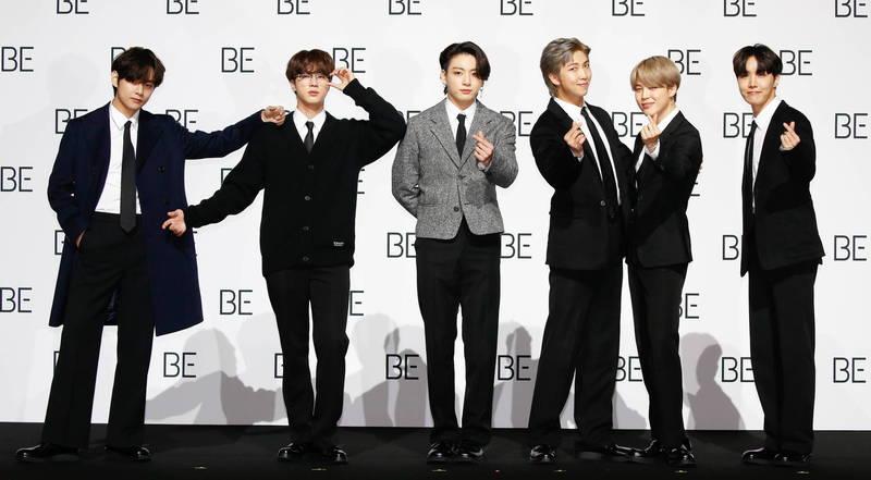南韓國會修防彈少年團法,南韓男藝人可延後至30歲入伍。(歐新社)