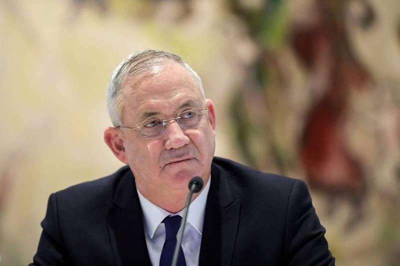 以色列輪替總理甘茨1日表示,他領導的政黨「藍白聯盟」將投票支持解散國會提案,呼籲總理納坦雅胡盡速通過預算案。(路透)