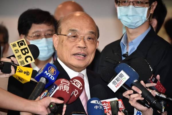 行政院長蘇貞昌今日出席109年資訊月開幕典(記者塗建榮攝)