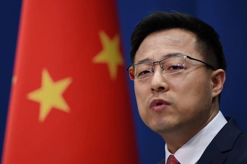 中國外交部發言人趙立堅在推特發文,引來澳洲全國的憤怒。(法新社)