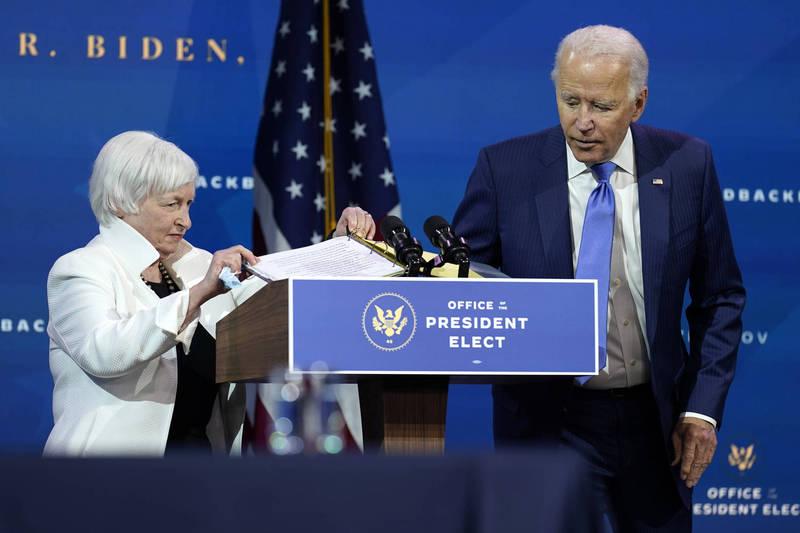 美國總統推定當選人拜登1日介紹他的內閣經濟團隊,並敦促國會盡快通過武漢肺炎(新型冠狀病毒病,COVID-19)紓困法案,承諾將採取更多行動振興經濟。(美聯社)
