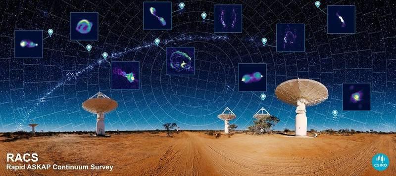 澳洲天文學家近期透過功能強大的新型太空望遠鏡,以破紀錄的速度繪製了約300萬個星系的地圖,成功創造所謂的「宇宙Google地圖」。(擷取自CSIRO官網)