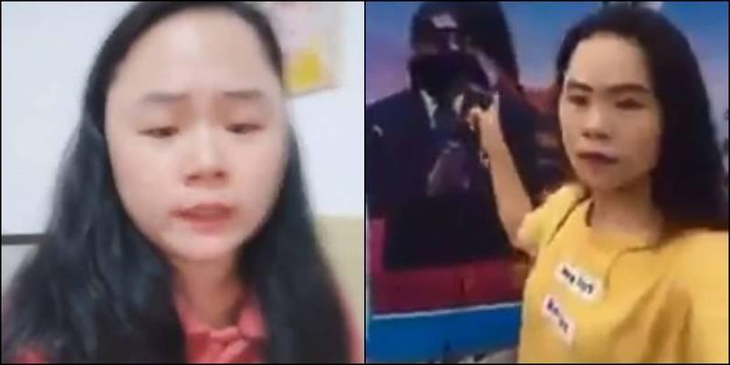 董瑤瓊2018年對習近平肖像潑墨,2年來遭到中國政府持續迫害。(圖取自推特)