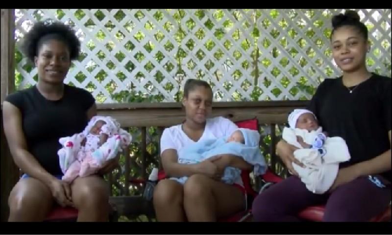 美國俄亥俄州三姊妹同一天在同一家醫院生產。(取自網路)