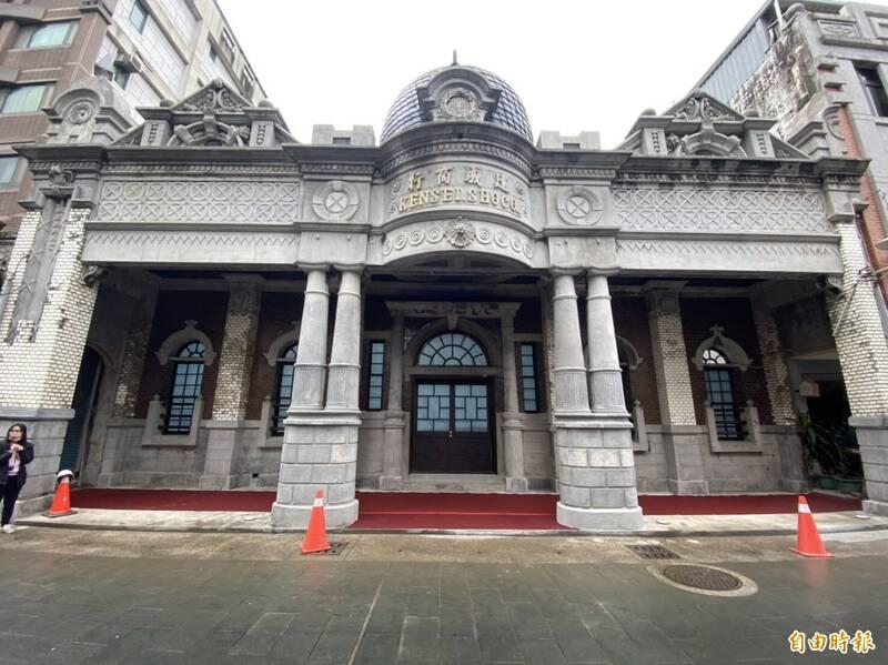 建成商行有近百年歷史,經修復重現當年風華。(記者許倬勛攝)