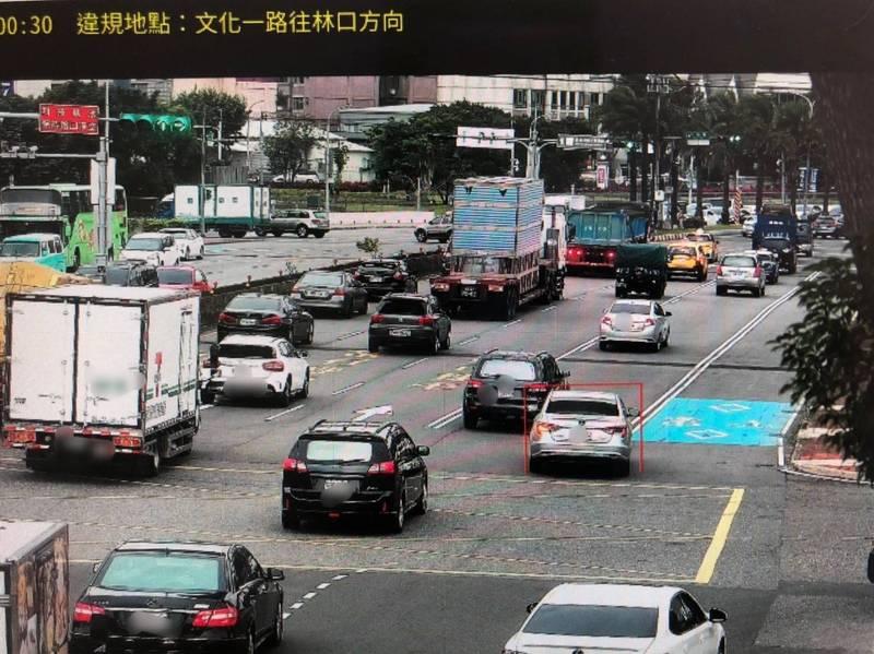 龜山區龜山一路、文化一路口已建置高科技執法監錄系統取締違規。(警方提供)