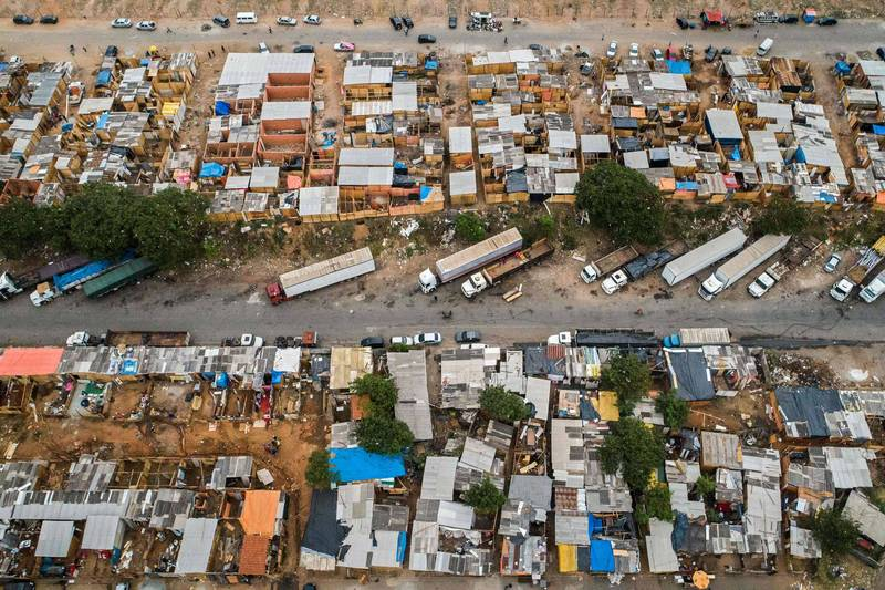 圖為巴西聖保羅的一個貧民窟。(法新社)