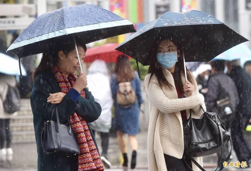氣象專家吳德榮表示,今、明兩天冷空氣增強,桃園以北濕冷,中南部白天舒適早晚微冷。(資料照)
