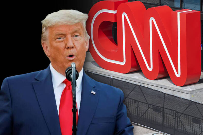 美國CNN被爆料高層下令不要把川普正常化。(本報合成)
