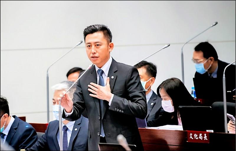 新竹市長林智堅呼籲,基於城市建設與市民福祉,期待議會盡速排審,針對預算進行實質審查。(新竹市政府提供)