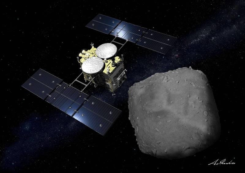 日本小行星探測器「隼鳥2號」完成小行星「龍宮」的採樣任務,裝有砂石樣本的密封艙成功著陸澳洲。(路透)