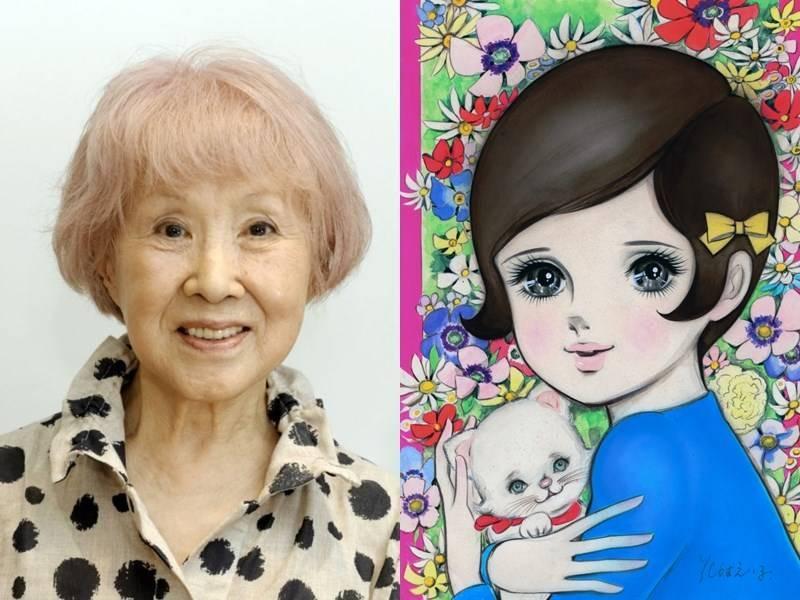 日本少女漫畫開山祖師級的漫畫家花村榮子(左),3日因多重器官衰竭於東京都內的家中去世,享壽91歲。她發表了許多漫畫作品,其中以1966年的作品「霧中少女」(右)廣受關注。(共同社)
