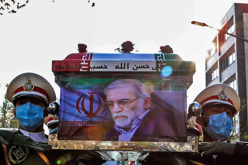 伊朗首席核武科學家法克里薩德遭暗殺身亡。(法新社)