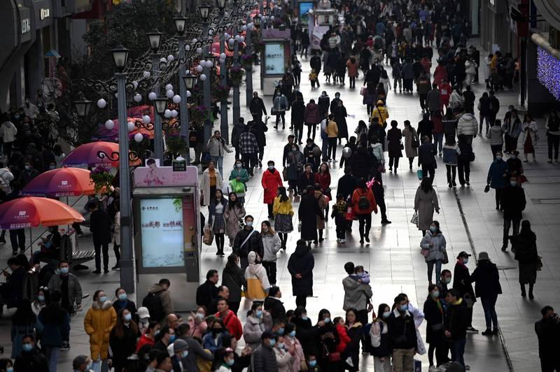 中國四川成都市近期武肺疫情重燃。圖為成都街道。(法新社)