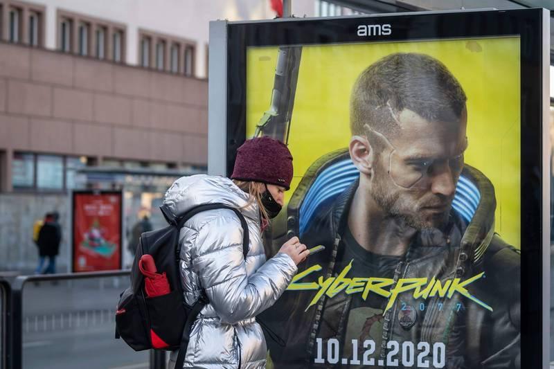 玩家期待已久的波蘭遊戲商CDPR矚目大作《電馭叛客2077》經3度延期後,終於將在明(10日)發售。(法新社)