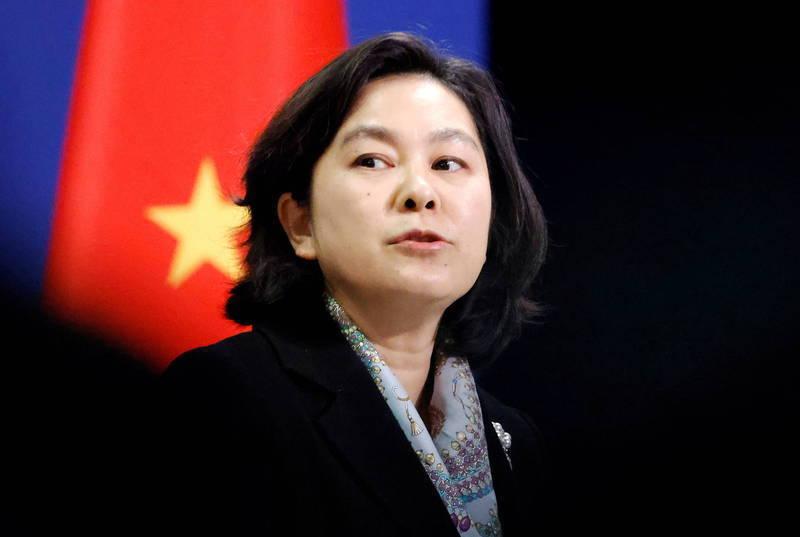 中國外交部發言人華春瑩(見圖)今天辯稱,中國面對「毫無底線的惡意攻擊」,為了維護自身的正當合法權益、主權安全發展利益及國家利益尊嚴,「就做戰狼又何妨」?(路透資料照)
