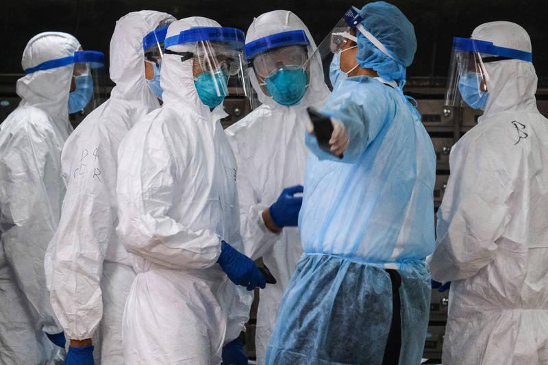 中國武漢肺炎疫情升溫,四川省、黑龍江省、新疆自治區接連在本週爆出本土病例。示意圖。(彭博)