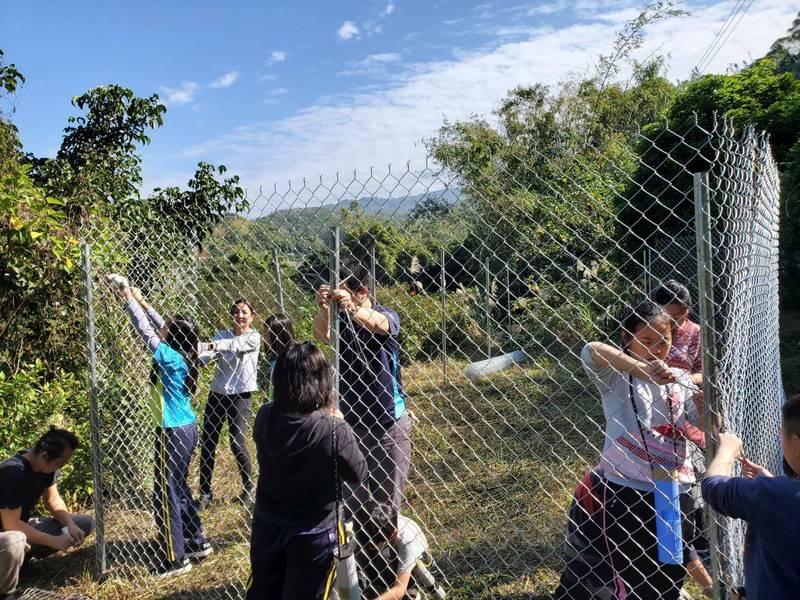 石虎保育協會首度與學校合作搭雞舍,盼降低石虎與雞農衝突。(記者蔡政珉攝)