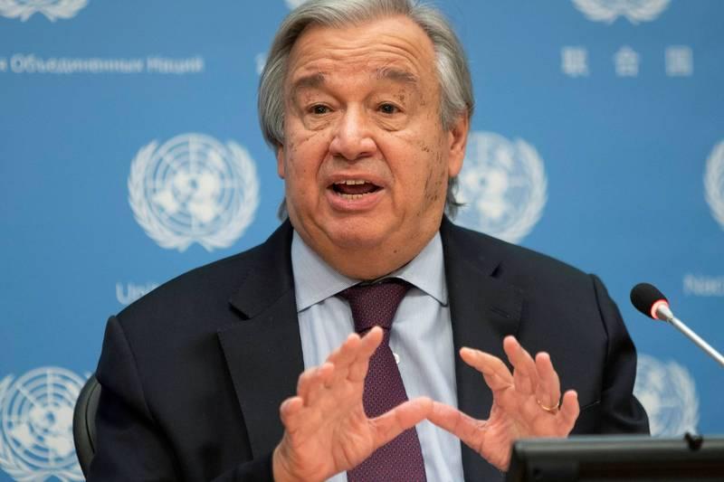 《巴黎協定》在12月12日迎來5週年,聯合國秘書長古特瑞斯在線上峰會中呼籲各國宣布「氣候緊急狀態」。(路透資料照)