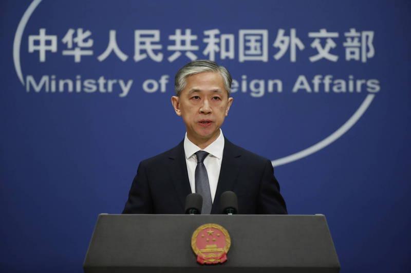 中國外交部發言人汪文彬(見圖)表示,盼兩方一起推動中美關係健康穩定發展,也提到中國國家主席習近平已於上月致電拜登祝賀。(歐新社)