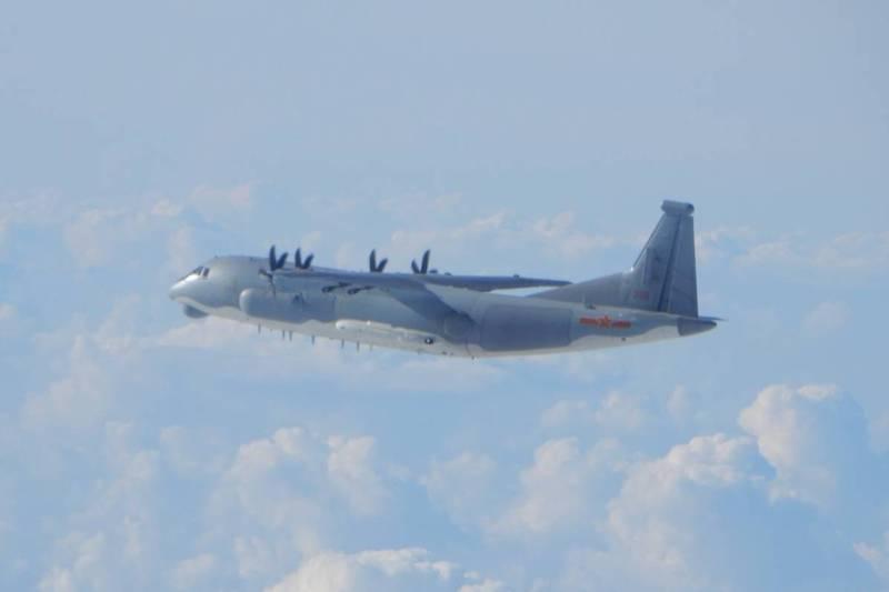 中共軍機近年頻繁擾台,台海局勢堪憂。(國防部提供)