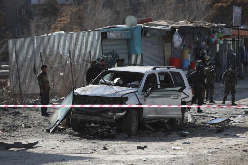 阿富汗首都出現炸彈攻擊,造成喀布爾省副省長與秘書身亡,兩名隨扈受傷。(美聯社)
