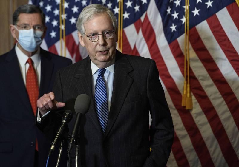 麥康奈私下警告共和黨參議員別去挑戰大選結果。(美聯社)