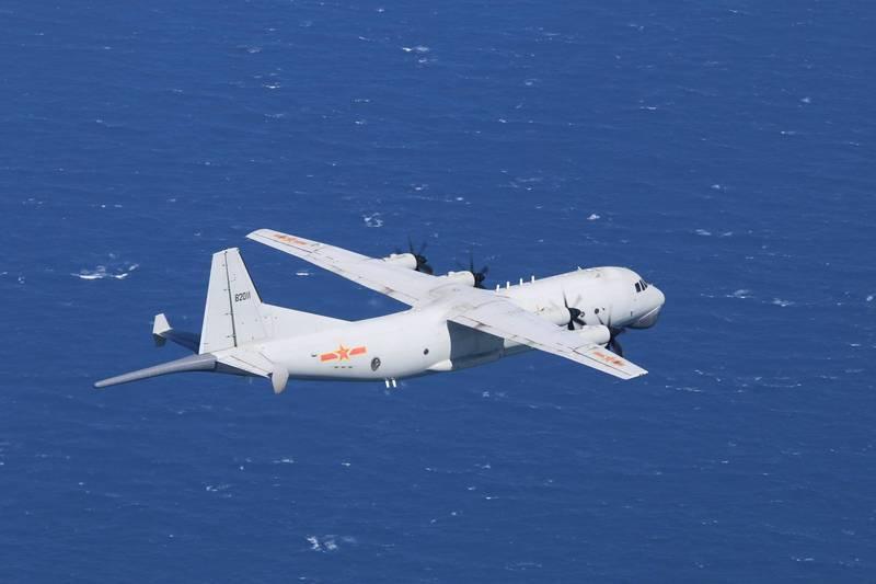共機中午侵入西南空域,本月累計已達15天。(圖由國防部提供)