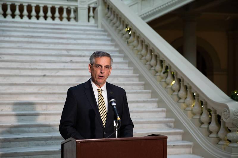 喬治亞州務卿拉芬斯佩格16日宣布,將在全州進行選票簽名驗證。(彭博)